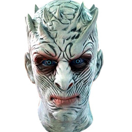 Wholesale Mask Latex Toy - Adult Scary Cosplay Latex Game of Thrones Night King Costume Party Masks Full Face Overhead Zombie Movie Mask Events Props Toys