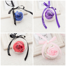 Wholesale ball bouquet - Simulation Bouquet Rose Soaps Ball Petal Home Wedding Decorations Artificial Soap Flower For Valentines Mother Day Gifts Romantic 3 5dc BZ