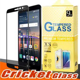 Protector de pantalla ídolo alcatel online-Para J2 CORE Huawei Mate 20 Pro X alcatel onetouch ídolo 4 5 Huawei P20 lite PRO 2.5D Protector de pantalla de cristal templado de cubierta completa para Cricketd
