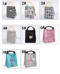 sac à lunch Promotion Flamingo lunch bag portable sac de bande dessinée Oxford tissu feuille d'aluminium isolation sac à lunch étudiant sac à main étanche