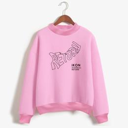 Wholesale Turtleneck Hoodie Mens - LUCKYFRIDAYF K-POP IKON New Album Hoodie Sweatshirt Mens Korea Popular Idol Hoodie Sweatshirt Women Fashion Casual Clothes