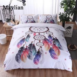 Комплект осеннего пододеяльника онлайн-Home Textile 3pcs Bedding Sets Duvet Cover Pillow Cover Polyester Autumn Winter Warm  New Be1051