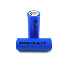 3.7v batería de iones de litio aa Rebajas Precio de fábrica ciclíndrico azul plano superior 3.7 v 200 mah batería de ion litio 10280 para productos electrónicos cosméticos