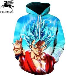 Wholesale Dragon Ball Z Hoodie - Dragon Ball Z Hoodie Pocket Sweatshirts men long sleeve cotton Kid Goku 3D Hooded Men Women 2017 new autumn Anime hoodies