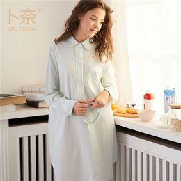 Plus size 100% Cotton Women s Flannel Boyfriend Nightshirt Nightgown  Nightdress Pink Plaid Cat Sleepwear Sleepshirt Nigh pockets cotton  nightshirts for sale e63425e70