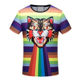 Wholesale Women Cat Suits - 2017 fashion casual men's T-shirt. Brand new style letters printed men and women in Angry cat short-sleeved t-shirts.Matching suit M-XXXL 03
