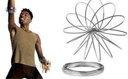 Anillo de metal Toroflux Flow con forma holográfica de juguete mientras se mueve Crea un anillo Flow Rainbow Rainbow Flow rings para mayoristas de regalos Xmax desde fabricantes