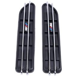Wholesale Air Vent Grille - 2pcs Air Flow Fender Side Vent Mesh Sticker Hole Grille For BMW E60 E61 E39 E34 M3 E46 M5 E90 C 5
