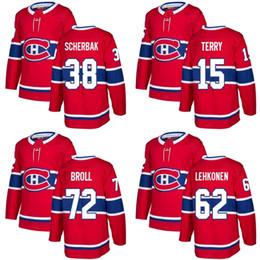 19698e03f 2018 New Brand Adults Montreal Canadiens 15 Chris Terry 38 Nikita Scherbak  62 Artturi Lehkonen 72 Broll Red Ice Hockey Jersey Accept Custom