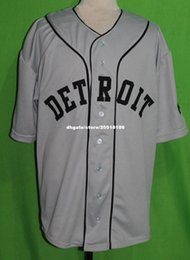 Wholesale Road Number - Cheap Retro DETROIT #2 1935 Road BASEBALL JERSEY NEGRO LEAGUE Or Custom any number any Mens Throwback jerseys XS - 5XL