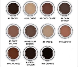 Wholesale full retail - 2018 new Eyebrow Pomade Eyebrow Enhancers Makeup Eyebrow 11 colors with retail box more choise by dhl