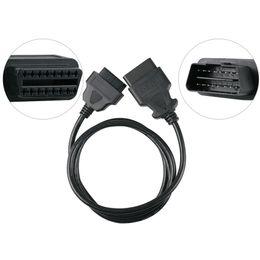 Discount cables obd2 obd - OBD2 16Pin Male to Female Extension Cable 1.5 m Transfer Connector OBD OBD2 16 pin Adaptor Car Diagnostic Adapter