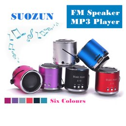 Wholesale portable mini speakers for laptop - SUOZUN FM Portable Speaker Z12 Mini Subwoofer Music Column Speakers Support USB Micro SD TF Card Mp3 4 For iphone Laptop PC