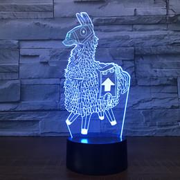 2019 materiales de puesta a tierra Fortnite souvenir regalo 7 colores Touch interruptor mesa escritorio luz 3D lámpara de lava acrílico Illusion Room Atmósfera iluminación juego ventiladores
