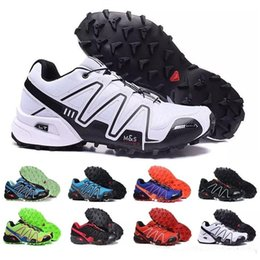 Wholesale Pu Soft Materials - 2018 Men Speedcross 3 Salo material Speed Cross III black Cross country shoes Casual shoes for women Running shoes Sneakers 36-40