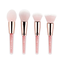 Ensemble de brosse de maquillage zoreya en Ligne-Brevet de maquillage Zoreya 4pcs / set Brosses Blush avec fondation de couleur rose et pinceau de maquillage pour le maquillage pour outils cosmétiques