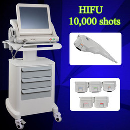 Wholesale Cheeks Face Lift - HIFU wrinkle removal face lift machine High intensity focused ultrasound salon use hifu pull cheek skin portable machine