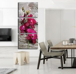 Wholesale cartoon flower pictures - Unframed Canvas Painting Flowers Modern Abstract Wall Art Poster Hot Cuadros HD Home decoration Modular Pictures FA263
