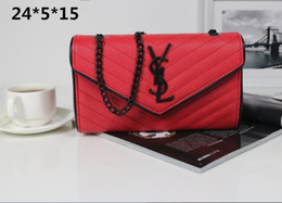 Оптовая продажа-роскошный дизайнер сумки на ремне модный бренд женская сумка пакет креста тела плеча цепи сумки карманные size24 * 5 * 15 см от