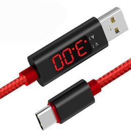2019 пленочные зарядные устройства 3A ЖК-дисплей сотовый телефон кабели 1 м нейлон плетеный Тип C Micro USB кабель зарядное устройство синхронизации данных USB кабель шнур для смартфонов Tablet PC USZ173 дешево пленочные зарядные устройства