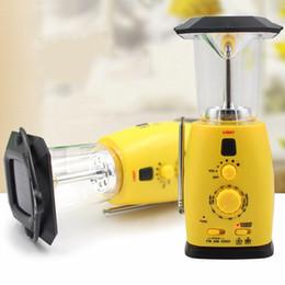 2019 luces de emergencia vintage Vioslite Lámpara de mano Lámpara de mano Radio Multifunción Generación de energía portátil Luz de emergencia solar Alivio del terremoto Tifón