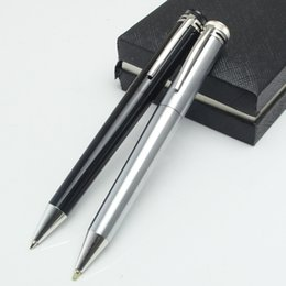 Wholesale black pen ink - Unique design Luxury mb pen capless ballpoint pen 1912 collection black pen for writing with Capless refill office supplies black ink