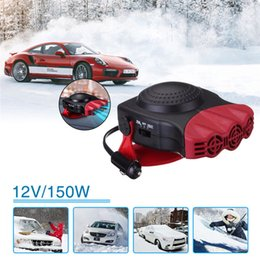 Wholesale heater defroster - Red 12V 150W Auto Car Heater Car Heating Fan Defroster Demister Portable 2 in1 Vehicle Car Dryer Temperature Control Device