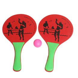 Wholesale fun party favors - Wooden Beach Ball Racket High Density Wood Plate Paddle Parent-Child Favorite Hot Toys Kids Outdoor Fun Toy Sport Party Favors