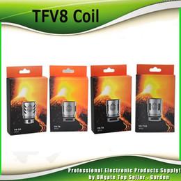 Argentina Bobinas de repuesto auténticas para cabeza de bobina TFV8 Nuevo código AB V8 T8 T6 Q4 X4 T10 Turbo V8 RBA para TFV8 Cloud Beast Tank 100% genuino Suministro