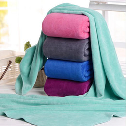 Wholesale quick dry towel microfiber - Microfiber Bath Towels 140*70cm Adults Thick Sport Beach Towel Bathroom Outdoor Travel Microfibra Sport Towel OOA3946