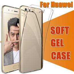 Wholesale Gel Mate - Ultra Slim Thin Soft TPU Gel Silicone Rubber Crystal Clear Transparent Flexibile Cover Case For Huawei P10 Plus P9 Mate 10 Pro V10 Nova 2S