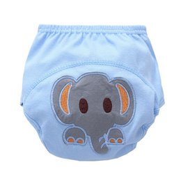 Wholesale Wholesale Newborn Cloth Diapers - Newborn Baby Reusable Washable Cloth Diaper Kids Cute Elephant Nappy Diapers Learning pants