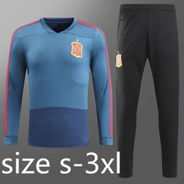 Wholesale Spanish Suit - Spanish national team 2018 World Cup training suits RFEF THIAGO MESSI ISCO SILVA MORATA ASENSIO A.INIESTA RAMOS PIQUE Spain training wear.