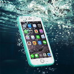 Telefone à prova de água à prova de choque on-line-Impermeável moda silicone case para iphone à prova de choque capa para iphone 6 6s 7 8 além de iphone x à prova de água telefone case