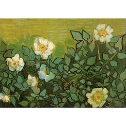 2019 wandkunst rosen Wall Art Ölgemälde Wildrosen berühmten Vincent van Gogh Kunstwerk auf Leinwand handbemalt günstig wandkunst rosen