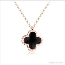 Wholesale Gold Manufacturers - Lucky clover necklace manufacturers jewelry wholesale stainless steel pendant clavicle chain clavicle chain