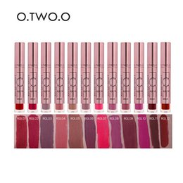 Wholesale Applying Makeup - 2018 HOT O.TWO.O Brand Matte Color Lip Gloss Easy to Apply Long Lasting Lips Makeup Lipstick Liquid Lipgloss Matte3001178