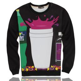 sprite sujo Desconto 2016 Novos Estilos Midnight Dirty Sprite Mulheres Homens Sweatshirt Unisex Sweats Casais Tee 3D All Over Imprimir Tops camisa Ocasional T Camisa Completa