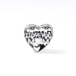 Love for Mother day charms mamma amare S925 argento adatto per braccialetto stile pandora trasporto libero H8 da il commercio all'ingrosso dei monili del nichel del piombo fornitori