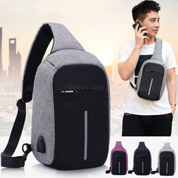 Wholesale China Wholesale Bags - Riding Waterproof Spring And Summer Leisure Chest Bag Multi-storey Outdoor Parking Security USB Charging Package Anti Theft Male Chest Bags