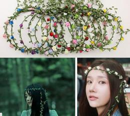 Deutschland Handgemachte künstliche Blumen Blumengirlande Braut Haar Kopfschmuck Stirnband Hochzeit Tiaras Haarschmuck für Frauen supplier tiara made flowers Versorgung