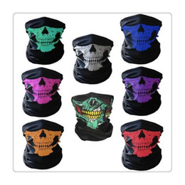 Wholesale Wholesale Skull Motorcycle Helmets - Cycling Masks Multi Skull Bandana Helmet Neck Face Masks For Bike Motorcycle Ski Outdoor Sports Halloween Skeleton Scarf Outdoor Gear