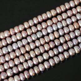 Produits semi-finis de bricolage charmes naturels abacus perle d'eau douce violet perles en vrac charmes 9-1mm pour les femmes de haute qualité 15 pouces ? partir de fabricateur