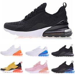 Wholesale plus size shoes boots - 270 Men Running Shoes 270 Triple Black White Orange Khaki Yellow Top Vapormax tn plus Sport Shoes Boots Women Sneakers 27C size 36-45