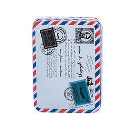 Wholesale black desk organizers - 1PCS Mini Vintage Storage Tin Coin Bag Jewelry Box Lovely Print Girls Gifts Desk Storage Holder Cosmetic Stationery Organizer