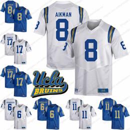 UCLA Bruins  8 Troy Aikman 11 Anthony Barr 6 Eric Kendricks 17 Brett  Hundley White Blue NCAA College Football Jerseys S-3XL 9f471e0cc