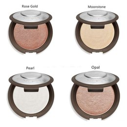 Wholesale Gold Bare - Becca Moonstone Opal Rose Gold Pearl Face Powder Brighten Shimmering Skin Perfector Pressed 4 Colors Bare Face Makeup Palette