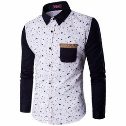 Wholesale Yellow Polka Dot Dress - Spring New Polka Dot Shirt White Men Long Sleeve Mens Dress Shirts Casual Slim Fit Chemise Homme Camisa Hombre Plus Size M-5XL