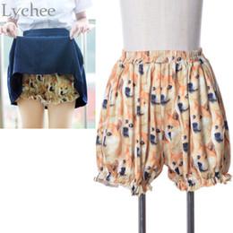 2019 petites blagues Lychee Sexy Japonais Lolita Mignon DOGE Mème Citrouille Sous-Vêtements Shorts Drôle Joke Chien Impression Sécurité Pantalon Court petites blagues pas cher