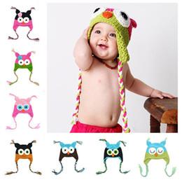 Nouveau Beau Modèle Bébé Chapeau Hiver Toddler Owls Tricot Crochet Bonnet  Tricoté Pour enfant enfants beanies bébé Chapeaux Coton peu coûteux  chapeaux ... 918d9f0cb3d